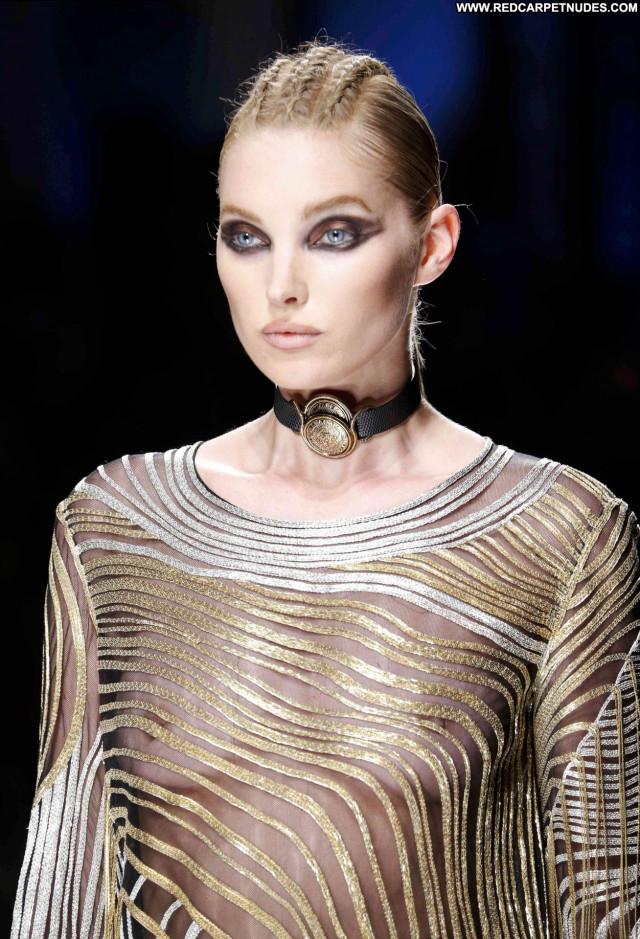 Elsa Hosk Fashion Show Celebrity Bra Swedish Angel Model Fashion Babe
