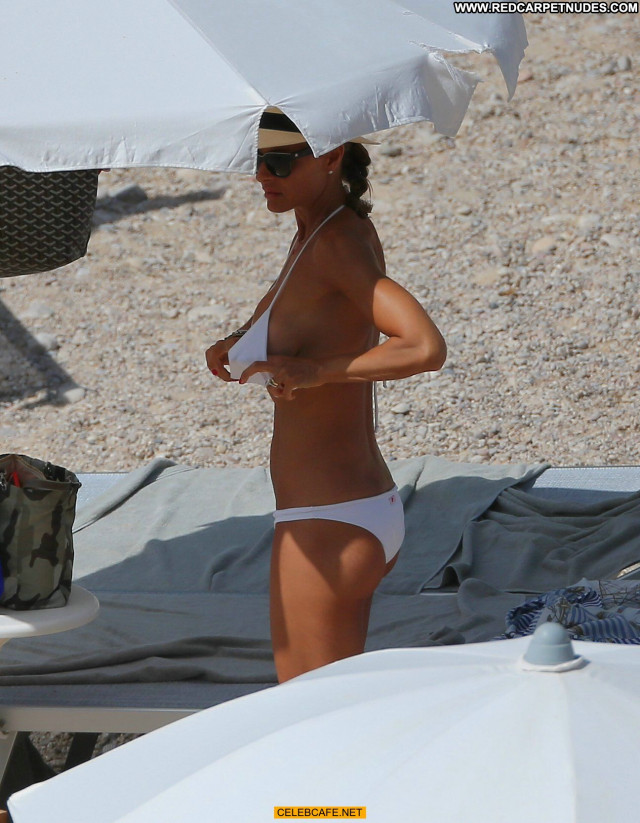 Martina Colombari No Source Posing Hot Beach Beautiful Ibiza Toples