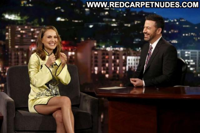 Natalie Portman Jimmy Kimmel Live Posing Hot Angel Paparazzi Babe