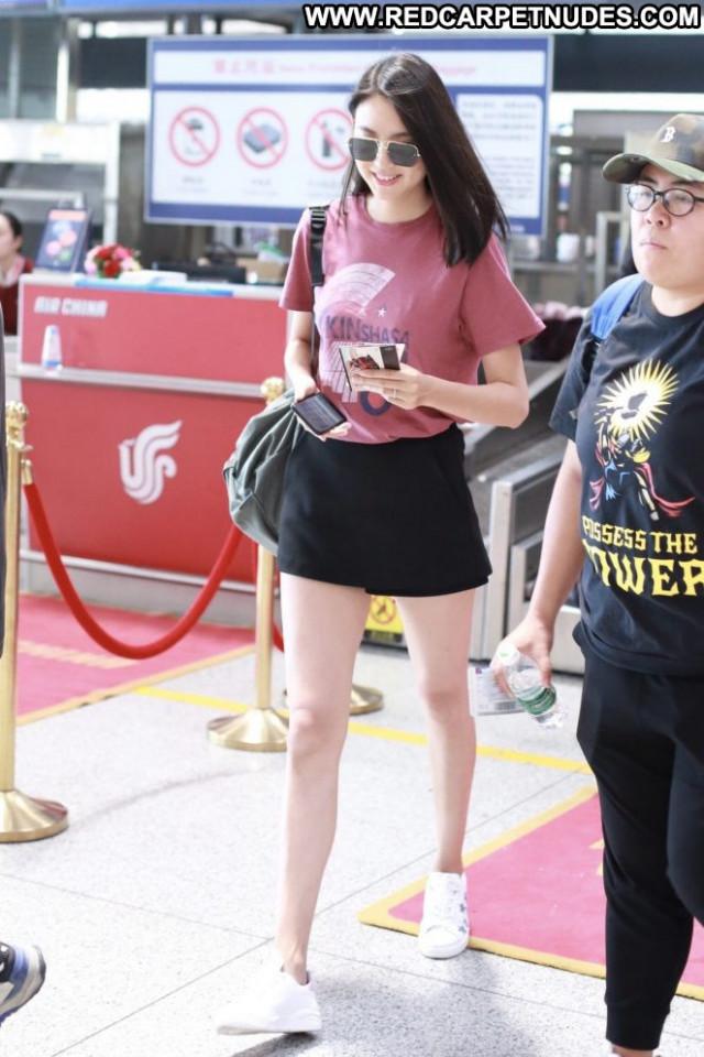 Zhang Zilin No Source  Paparazzi Babe Celebrity Posing Hot Beautiful