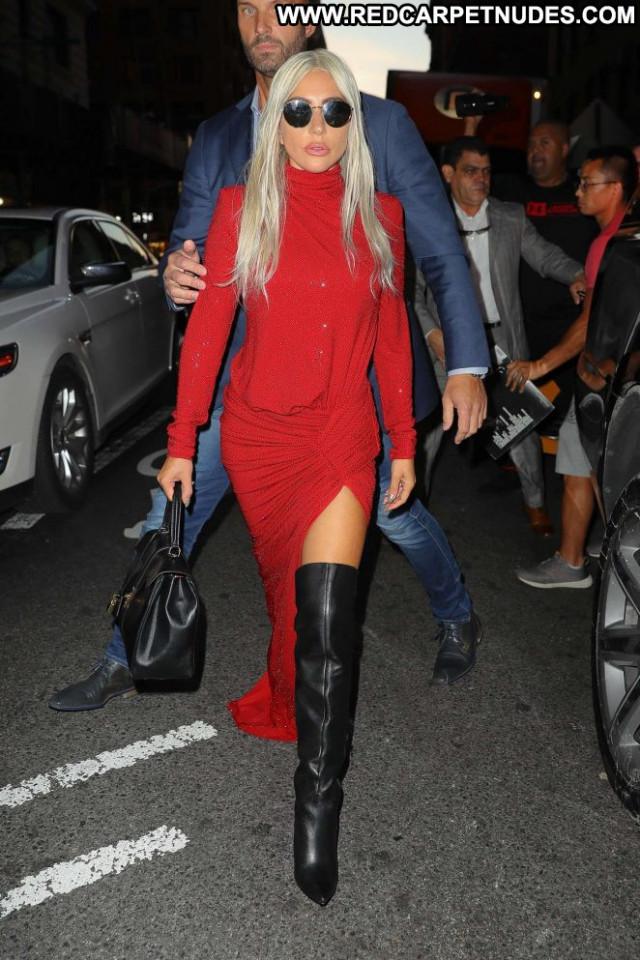 Lady Gaga New York Posing Hot Gag Beautiful Paparazzi New York