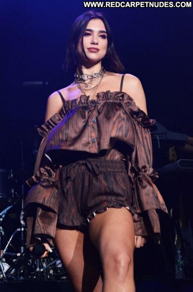 Dua Lipa No Source Beautiful Posing Hot Concert Paparazzi Celebrity