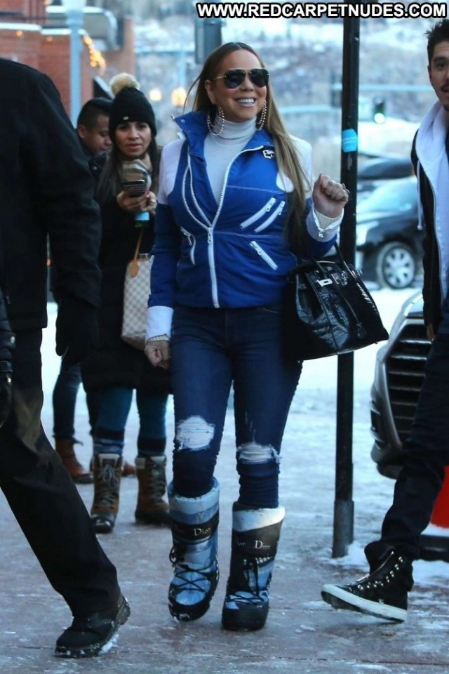 Mariah Carey No Source Babe Paparazzi Car Posing Hot Celebrity