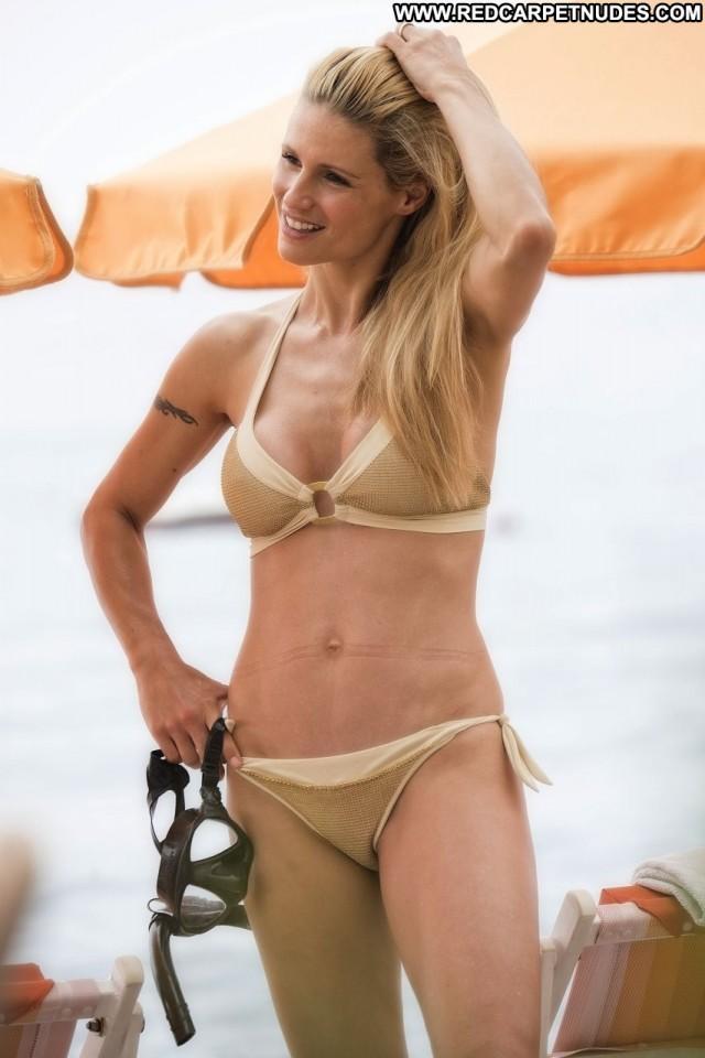 Michelle Hunziker The Beach  Singer Beautiful Beach Sexy Actress Sex