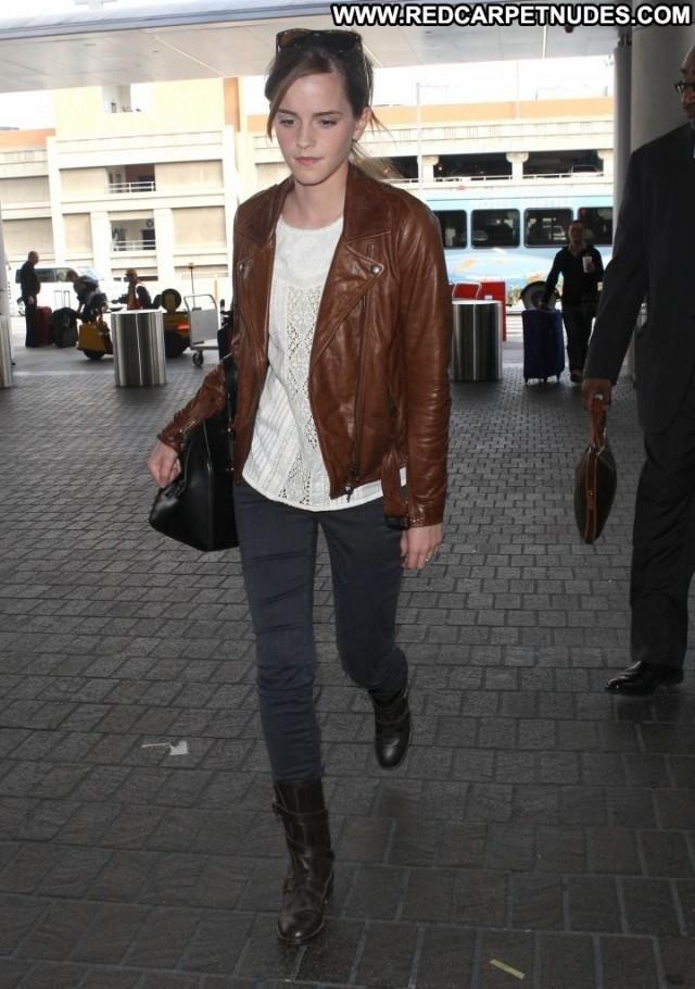 Emma Watson Lax Airport Posing Hot Beautiful Los Angeles Lax Airport