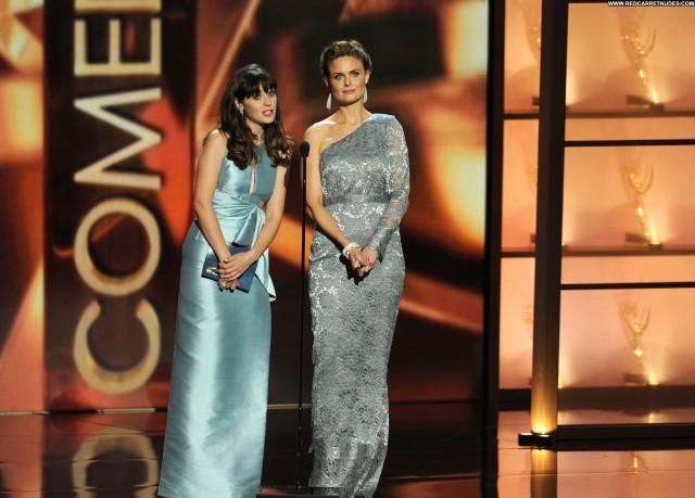 Emily Deschanel Primetime Emmy Awards Celebrity Babe Beautiful Posing