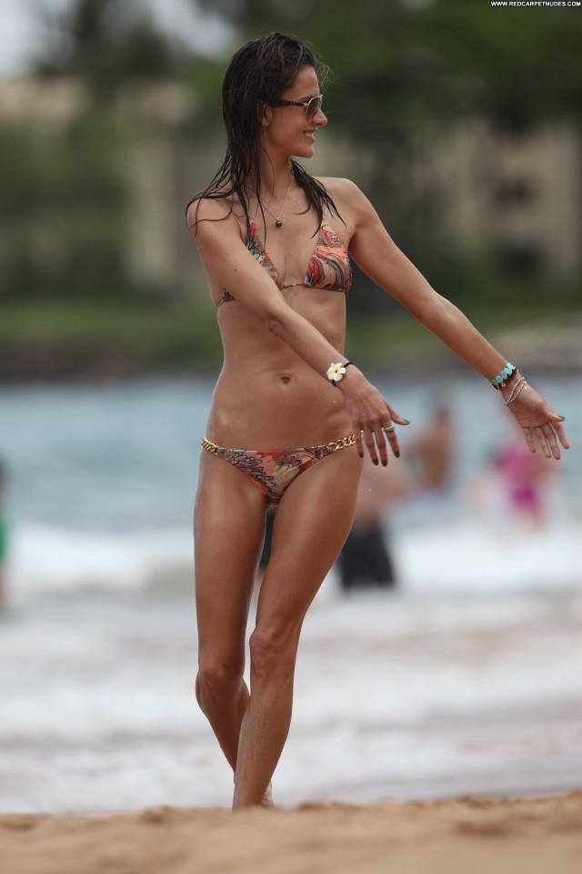 Alessandra Ambrosio The Beach  Bikini Celebrity Babe High Resolution