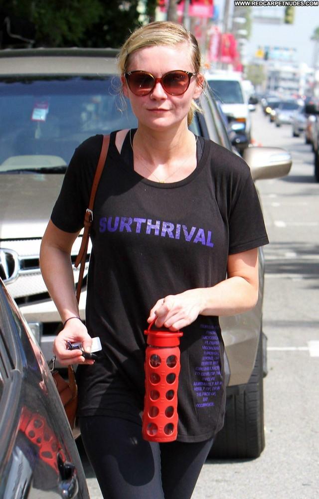 Kirsten Dunst Studio City Beautiful Gym High Resolution Celebrity