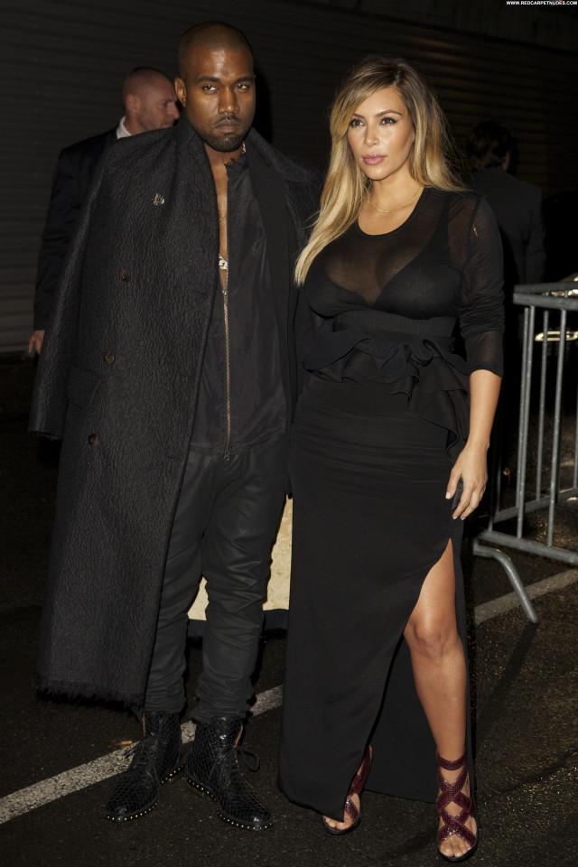 Kim Kardashian Fashion Show High Resolution Celebrity Posing Hot
