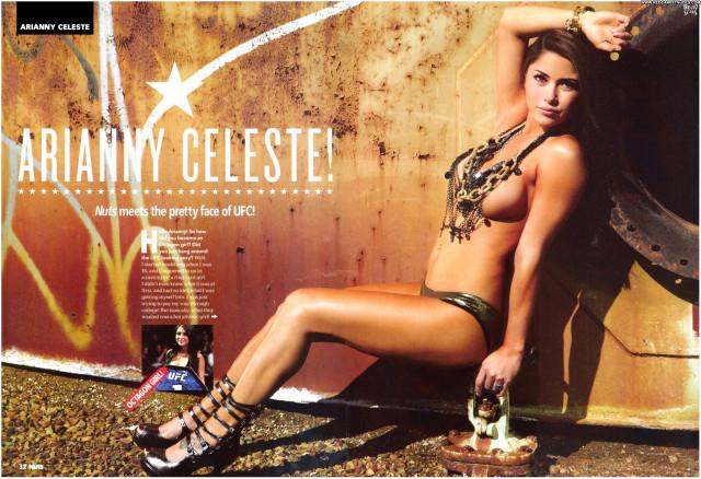 Arianny Celeste Nuts Magazine Celebrity Posing Hot Beautiful Magazine