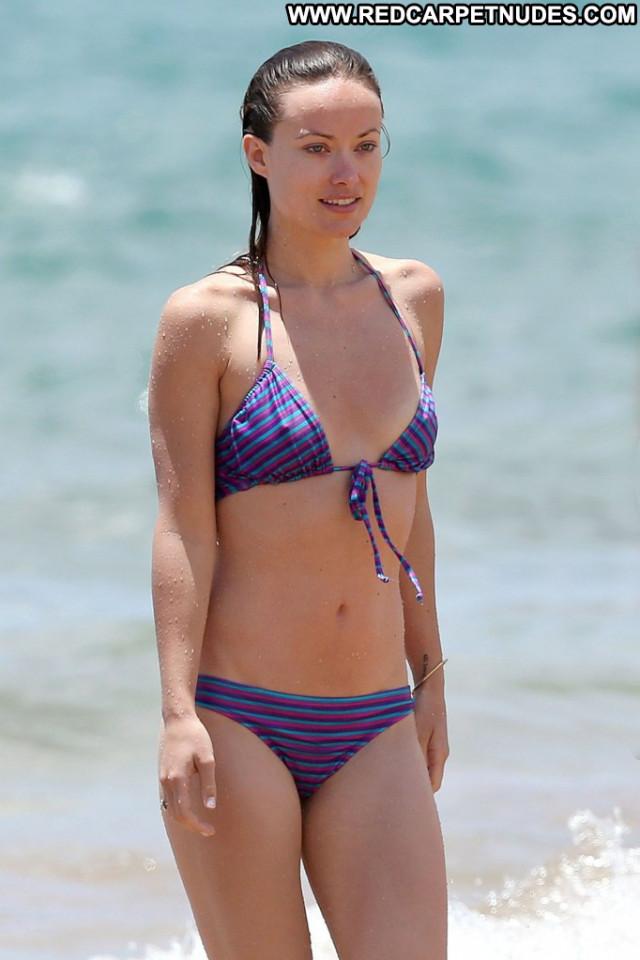 Olivia Wilde No Source Bikini Beautiful Posing Hot Usa Hawaii Babe