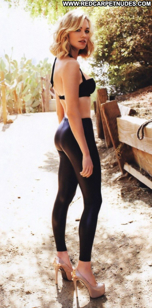 Yvonne Strahovski No Source  Leather Beautiful Babe Pants Posing Hot