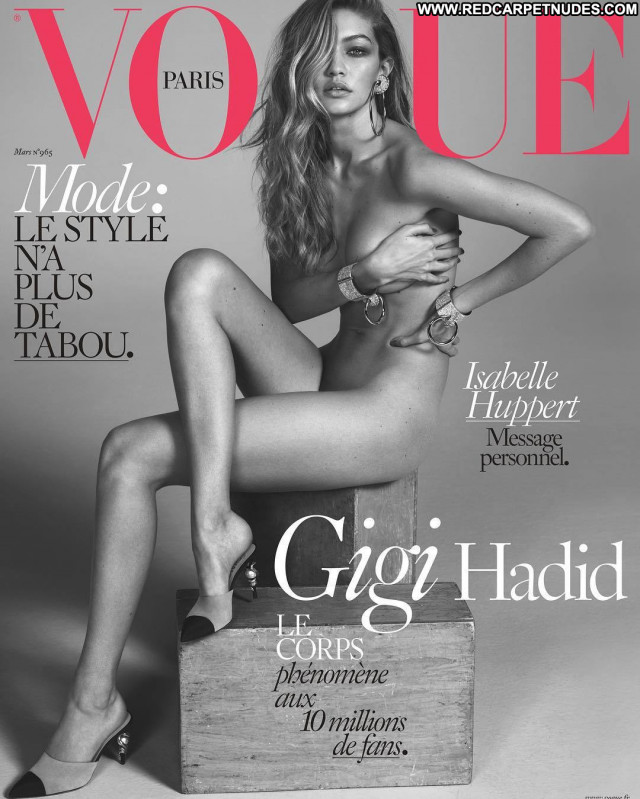 Gigi Hadid Vogue Magazine  Usa Babe Posing Hot Nude Beautiful