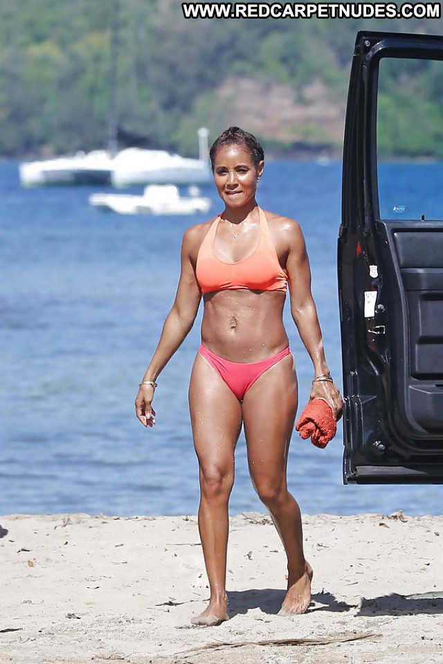 Jada Pinkett Pictures Bikini Booty Black Beach Ebony Milf Hot Ass